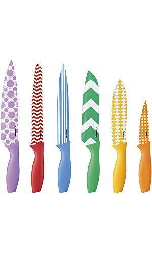 Amazon Com Interesting Finds Colorful Knife Set Knife Sets Stainless Steel Knife Set