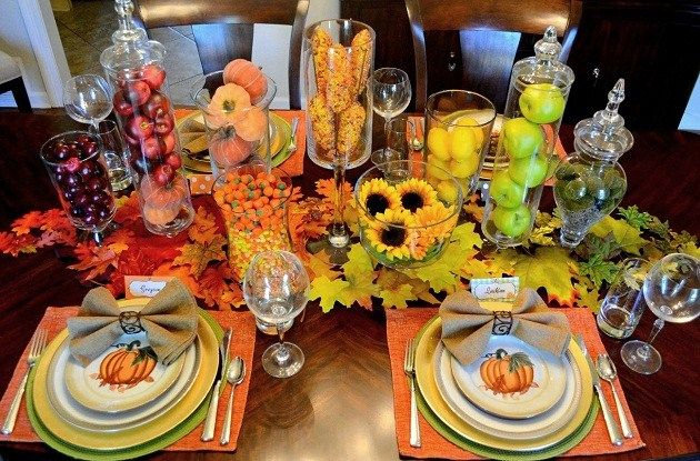 Crea un camino de mesa con hojas para tu fiesta de otoño / Create a leaf tablerunner for your autumn party