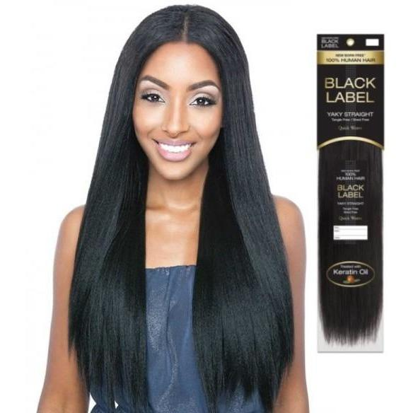 Black Label Human Hair Weave Tangle Free Shed Free Quick And Easy To Apply 10 18 100 Human Hair Extensions Keratin Human Hair