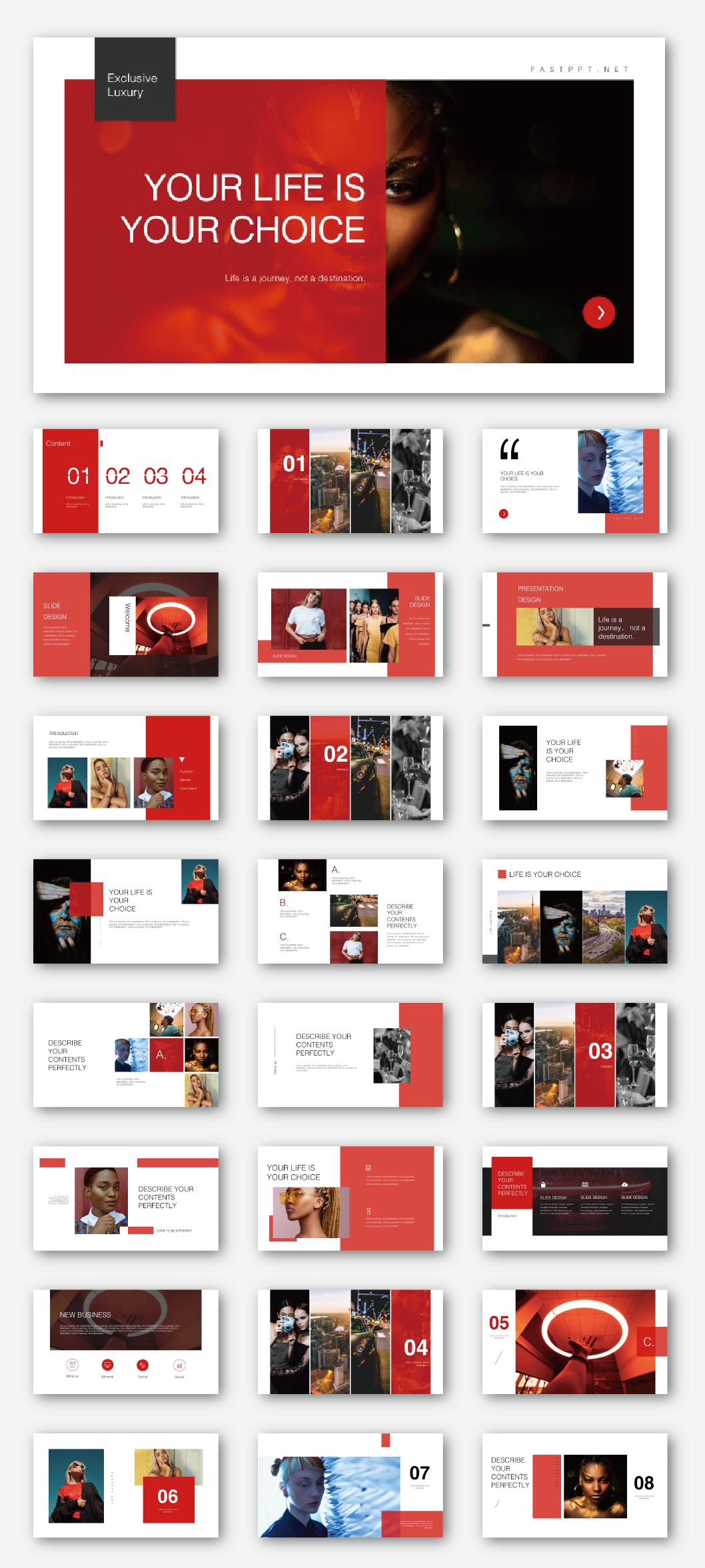 Creative Fashion Resume Presentation Template  Original und hochwertige PowerPointVorlagen herunterladencreative