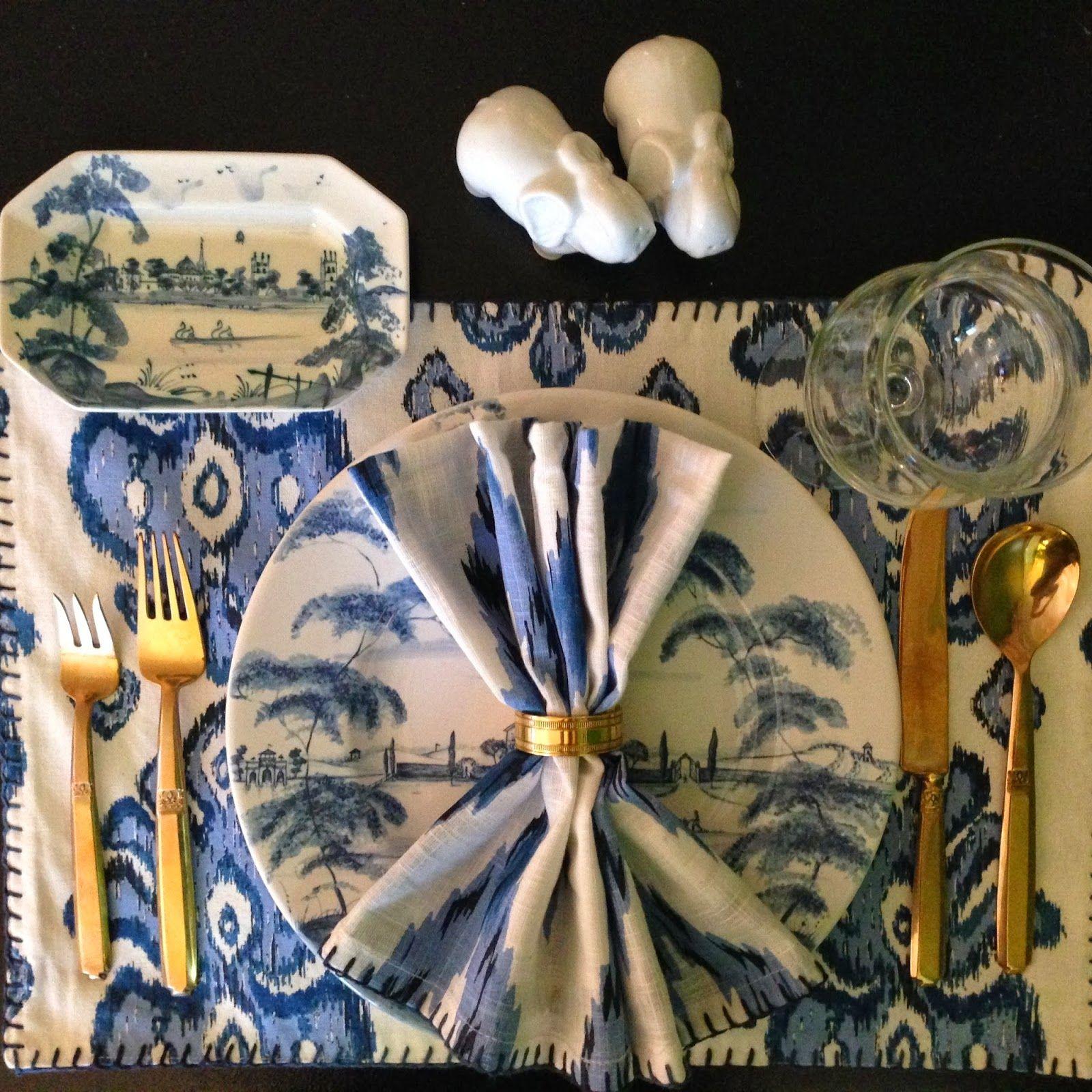 SANITY FAIR, Isis ceramics and World Market ikat linens!