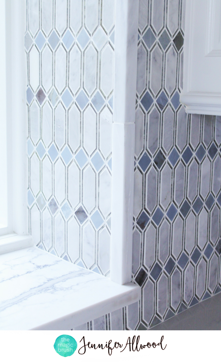 Glam Gorgeous Mirrored Tile Kitchen Backsplash Jennifer Allwood Mirror Tile Backsplash Backsplash Kitchen Tiles Backsplash