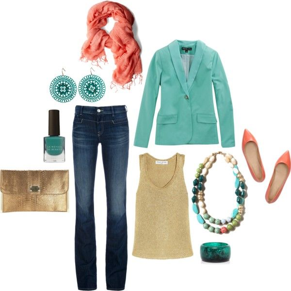 """""""Teal & Pink Evening"""" by Amanda Morris on Polyvore"""