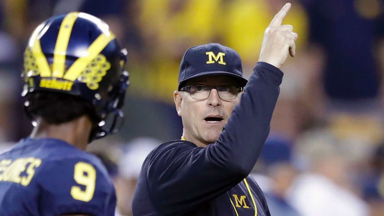 Harbaugh exploring ways to compensate players espn