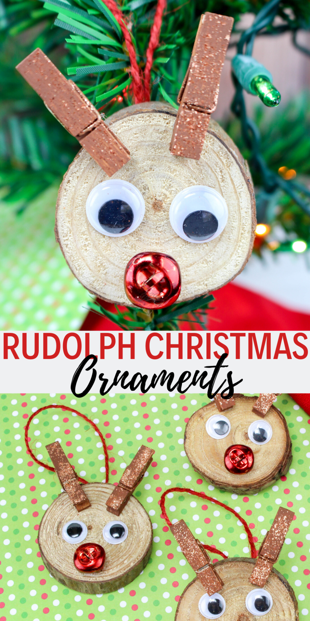 Rudolph Christmas Ornaments Dine Dream Discover Painted Christmas Ornaments Christmas Tree Decorations For Kids Wooden Christmas Crafts