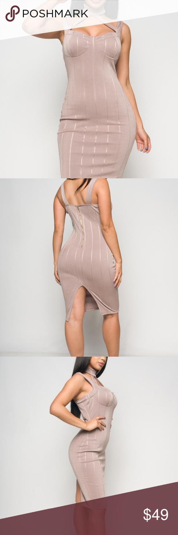 Taupe Midi Dress Boutique Clothes Design Fashion Taupe Midi Dress [ 1740 x 580 Pixel ]