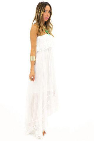 PIPA PEPLUM SUN MAXI DRESS - White   www.hauteandrebellious.com