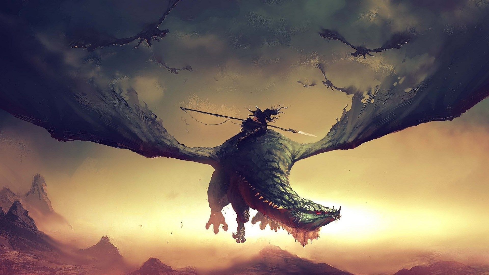 2017-03-04 - Images for Desktop: dragon backround - #1408249