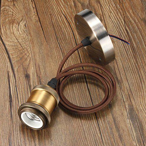 KINGSO E27 Lampenfassung Kupfer Vintage Retro Antike Edison