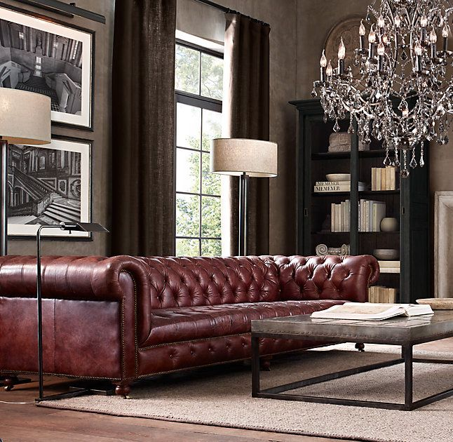 Oxblood Tufted Couch Chesterfield Sofa Living Room Chesterfield Living Room Leather Sofa Living Room
