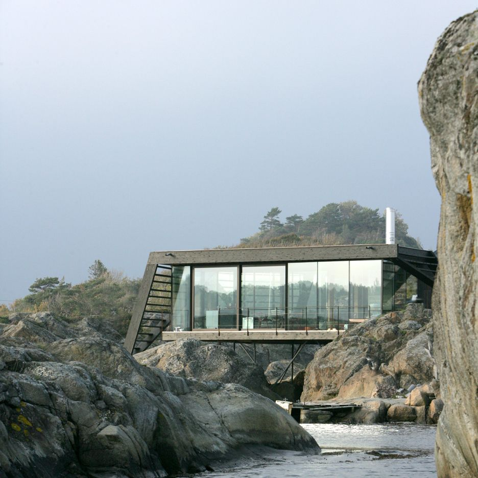 Cottage On Stilts By Andersson Wise Architects: Cabin Lille Arøya By Lund Hagem