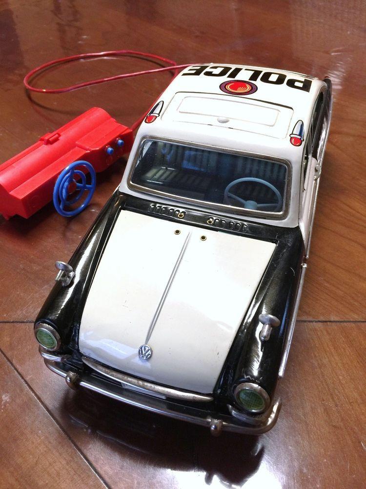 YANOMAN TOYS - VW1600 POLICE CAR - MADE IN JAPAN - OLD TIN ...