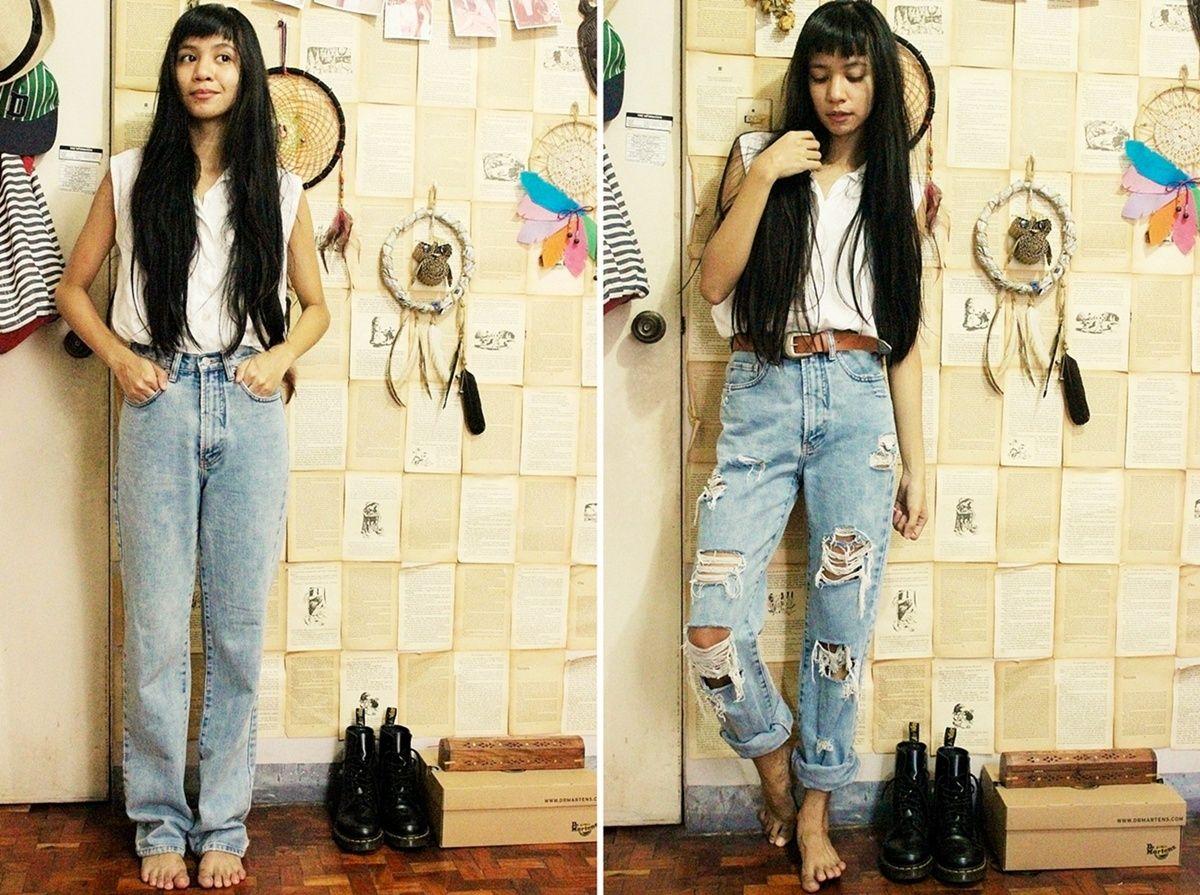 Diy Distressed Boyfriend Jeans Fashion Diy Ripped Jeans