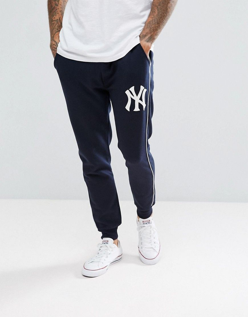 95e33c74 Majestic New York Yankees Joggers In Navy in 2019 | Pyjamas | New ...