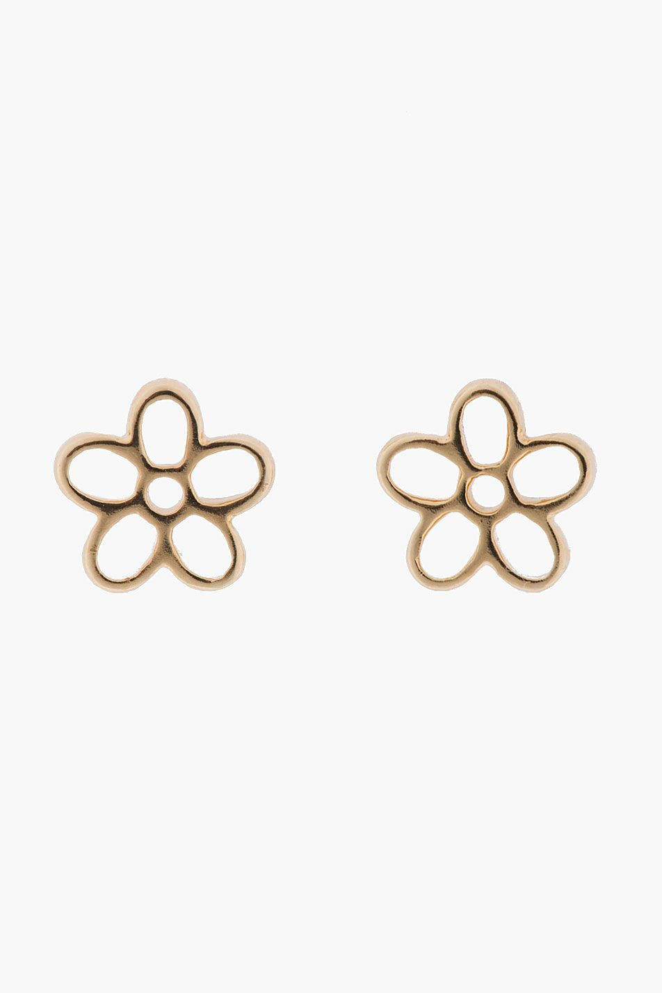 Marc By Jacobs Gold Cut Out Daisy Stud Earrings