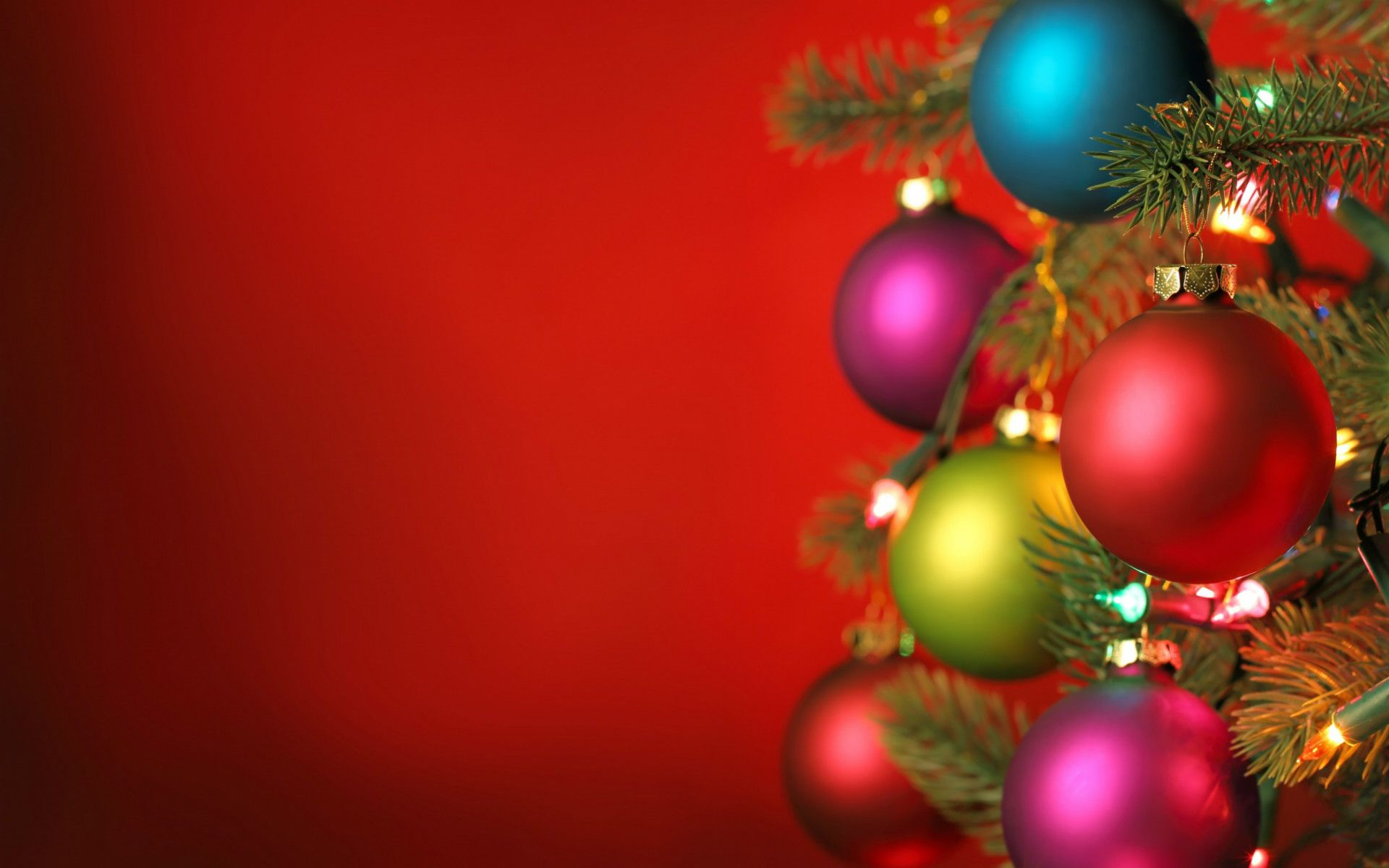 Abstract Christmas Tree on Red Background High Resolution