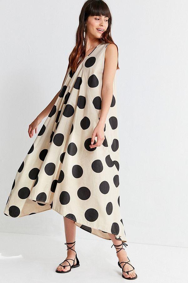 eb6d95aa2d5 Slide View  2  CAARA Chelsea Polka Dot Midi Dress