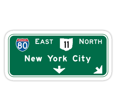 An Original American Highway Sign From The City Of New York New York Also Buy This Artwork On Stickers Apparel Phone Highway Signs New York City Stickers