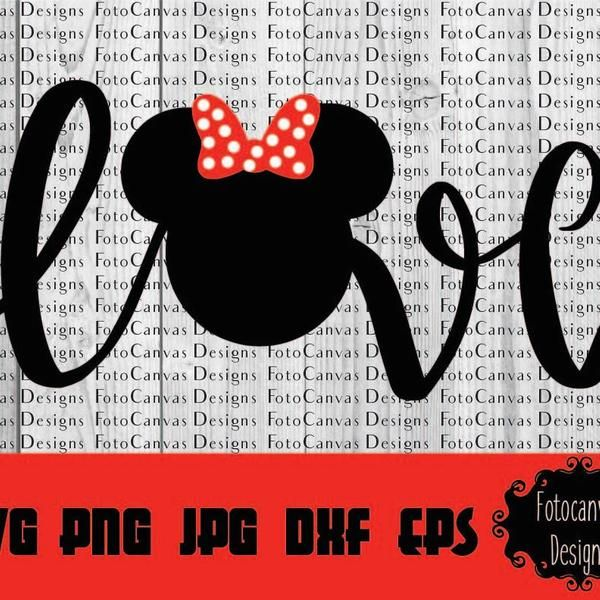 Download Disney SVG Mickey Head Love ClipArt Iron On Vinyl | Etsy ...