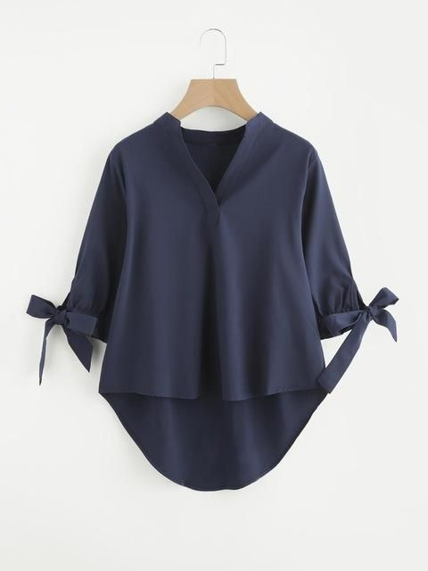 Summer New Women Elegant Ruffle Bow Sleeves Tee Shirt Asymmetric Tops Summer Ladies Plain Pullover Blouses T77719A #autumnseason