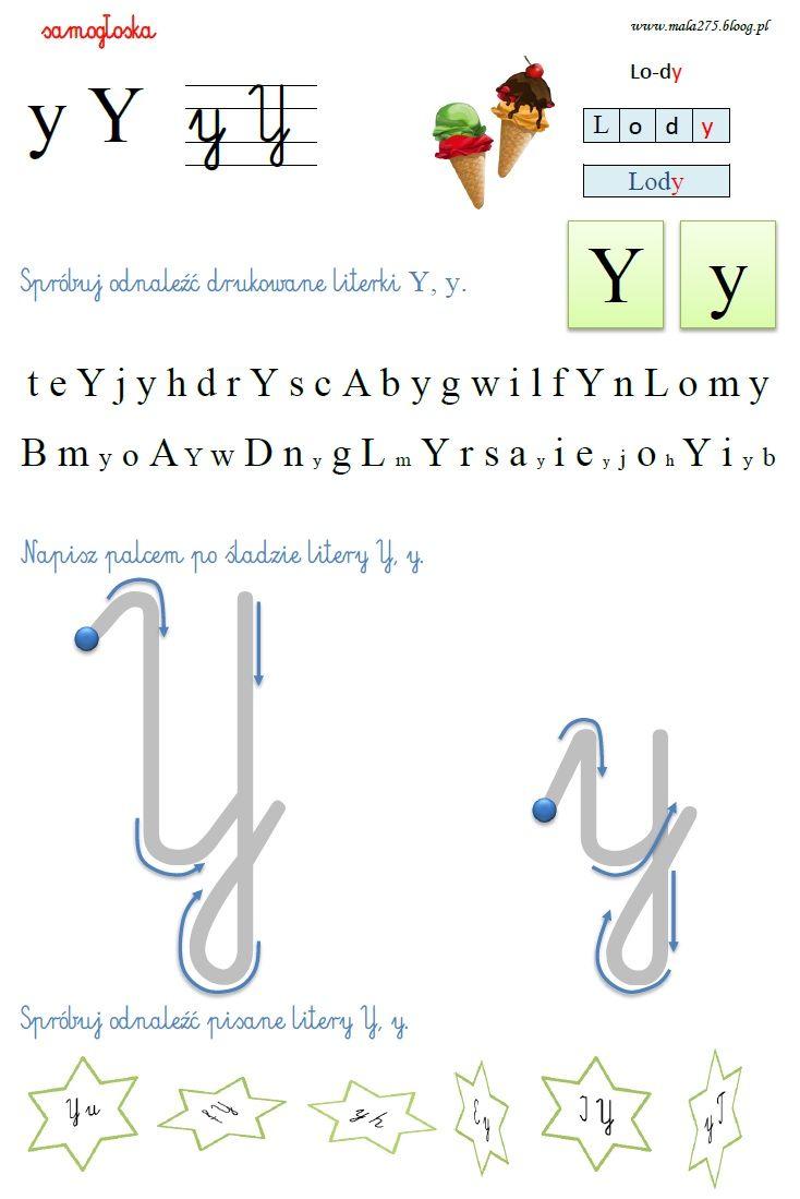 Blog Edukacyjny Dla Dzieci Literka Y Education Words Word Search Puzzle