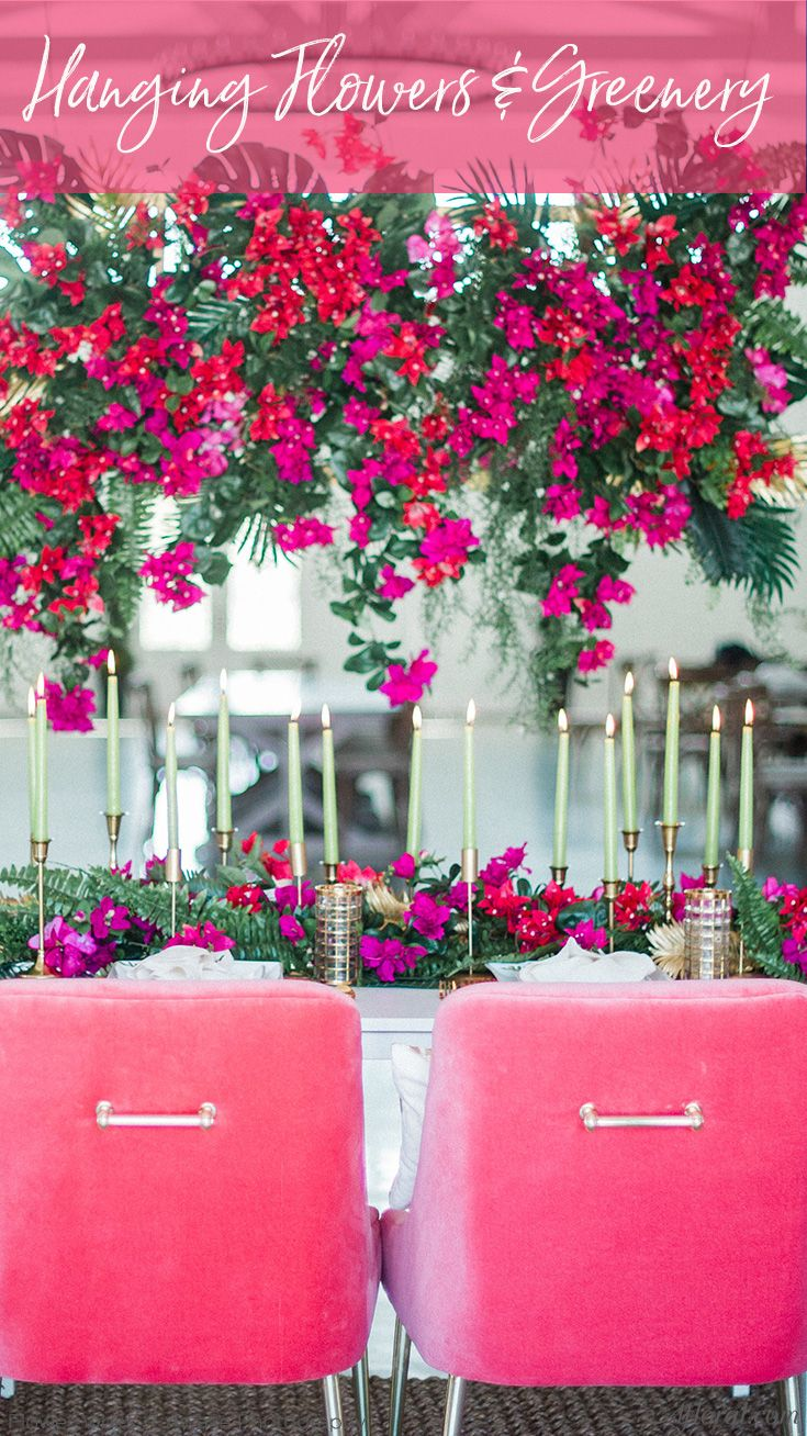 Hanging Flowers and Greenery Decorate your wedding or home with ...