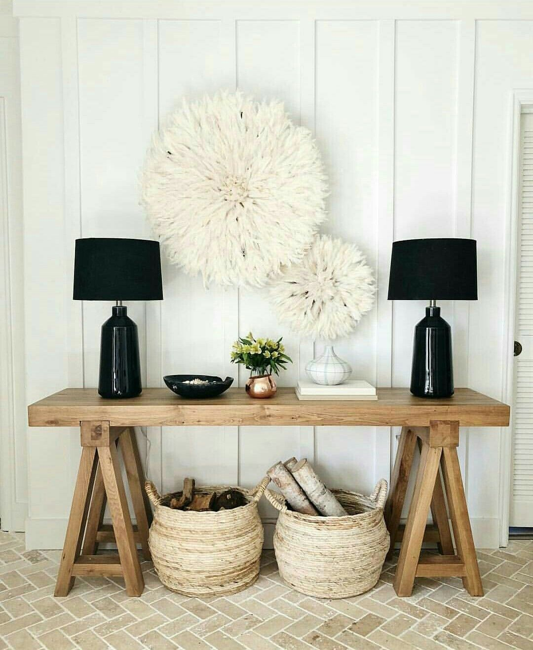Pin de beautiful things en deco stile pinterest for Aterrizaje del corredor de entrada deco