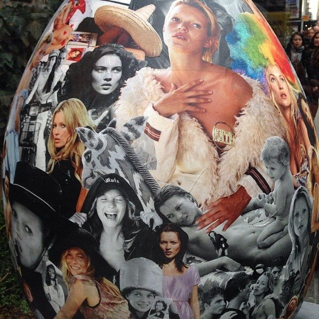 Kate Moss Faberge Easter Egg by Bruce Weber for The Big Egg Hunt NY.