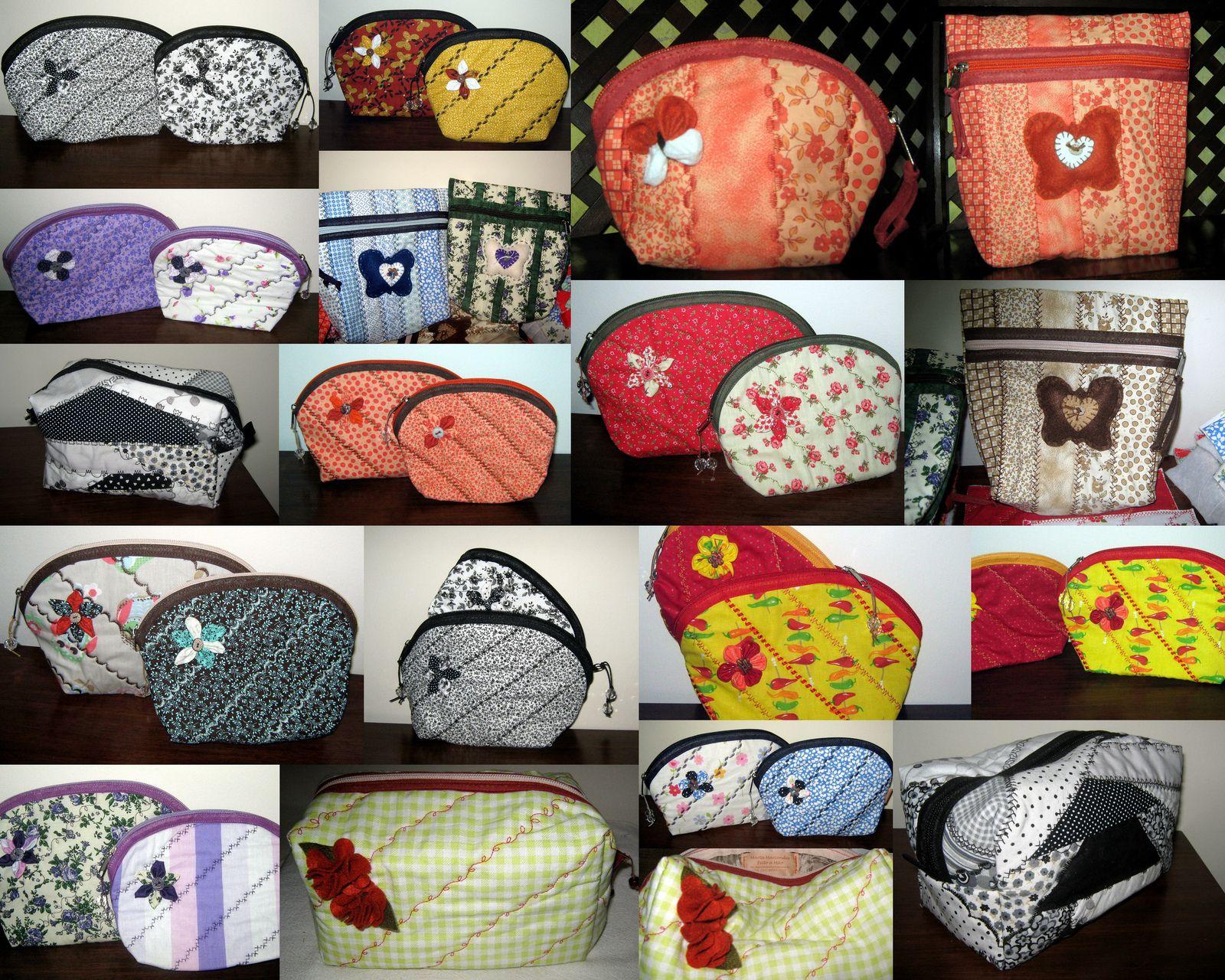 Necessaires e Organizadores confeccionadas por Marta Marcondes Artesanato em Tecidos
