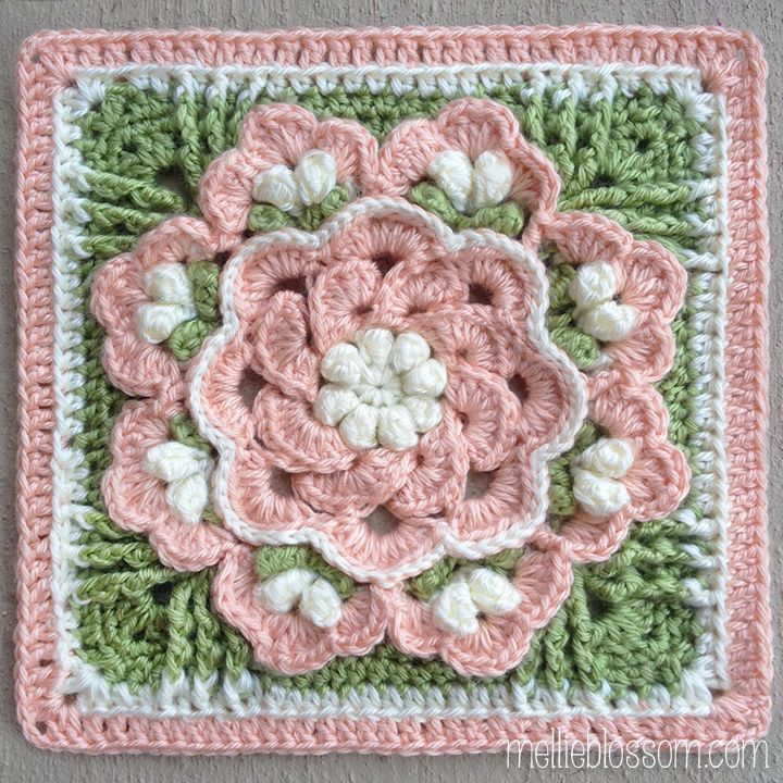 Beautiful Crochet Squares | woolwork | Pinterest | Tejido, Ganchillo ...