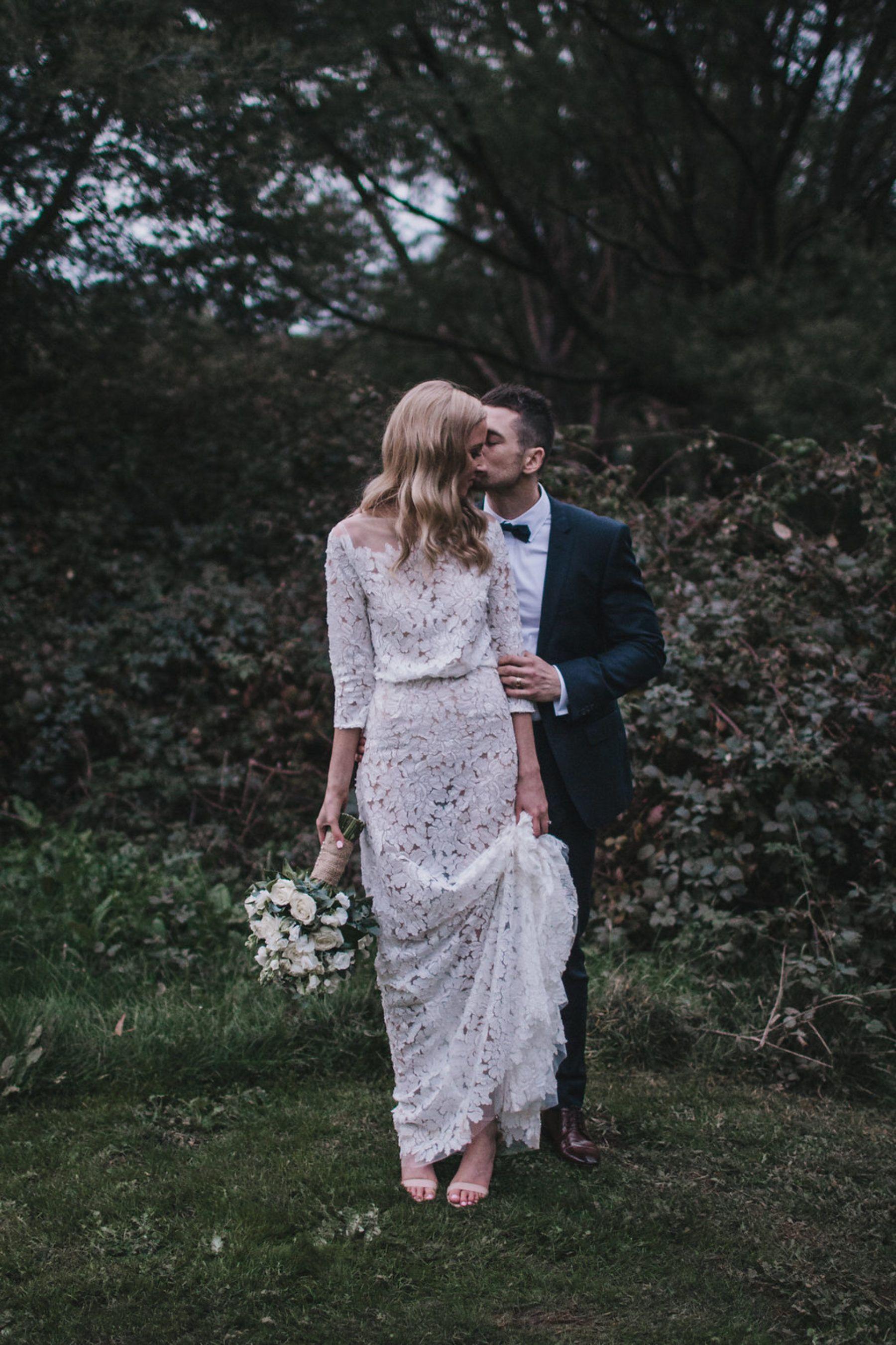 Ash Luke S Yarra Valley Wedding At The Riverstone Estate Nouba Com Au Wedding Dress Long Sleeve Elegant Wedding Gowns Unique Wedding Gowns
