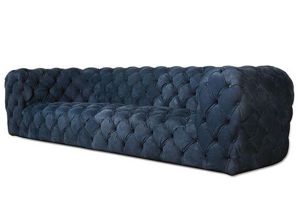 Kapitoniertes sofa aus leder chester moon by baxter for Baxter paola navone