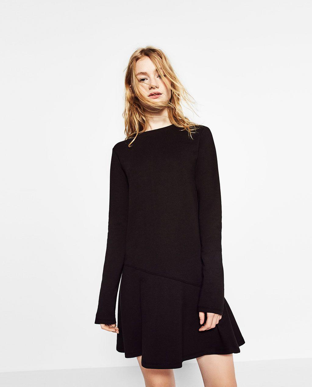 90013008 DRESS WITH RUFFLE HEM-TRENDING NOW-WOMAN | ZARA United Kingdom ...