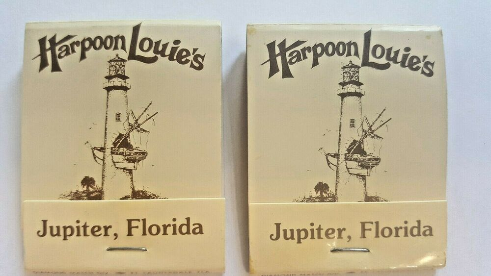 Harpoon Louie S Jupiter Fl Florida Vintage Matchbooks Lighthouse