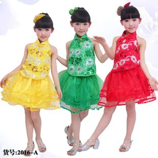New 2013 Children Dance Dresses, Big Size Girl Sequined tulle dress for holidy Performance wear preschool clothes princess $13.00