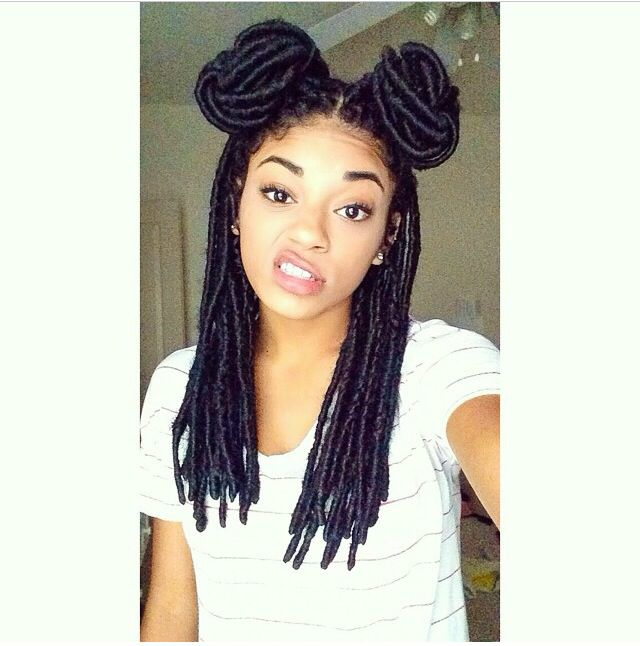 makes me want the faux locs again Long African American Hair Pinterest