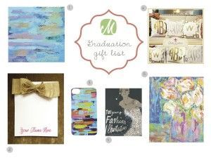 Graduation Gift List | Marquin Designs - #giftgiving : Paintings, Iphone Covers: @Marquin Designs, Painting: @Harrison Blackford, #fashion book, #note paper, #monogram pillows
