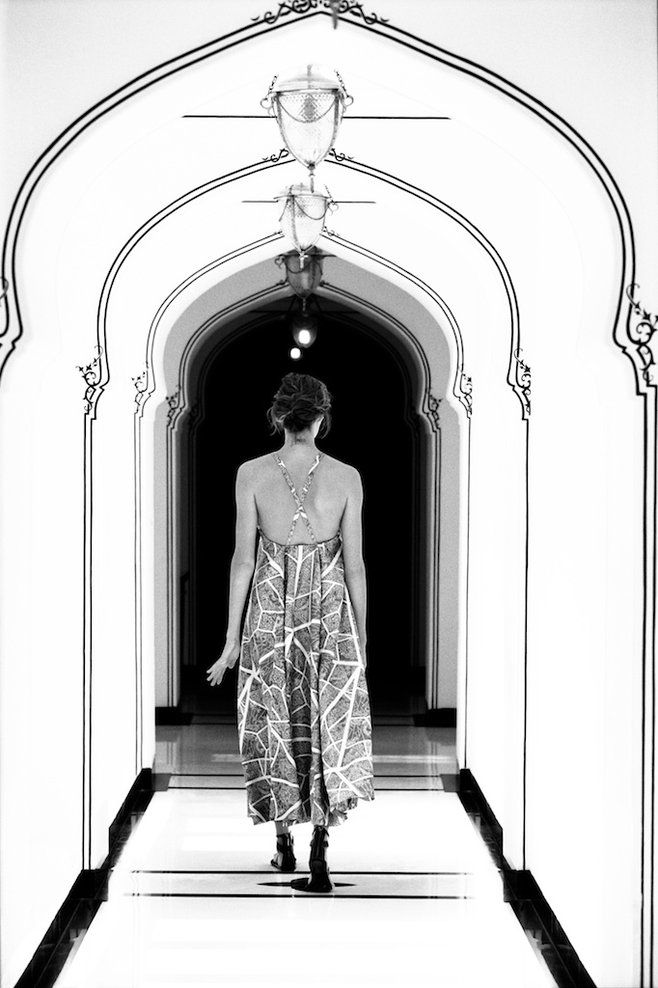 Maiyet SS13 Campaign featuring Daria Werbowy shot on location by Cass Bird in Varanasi, India