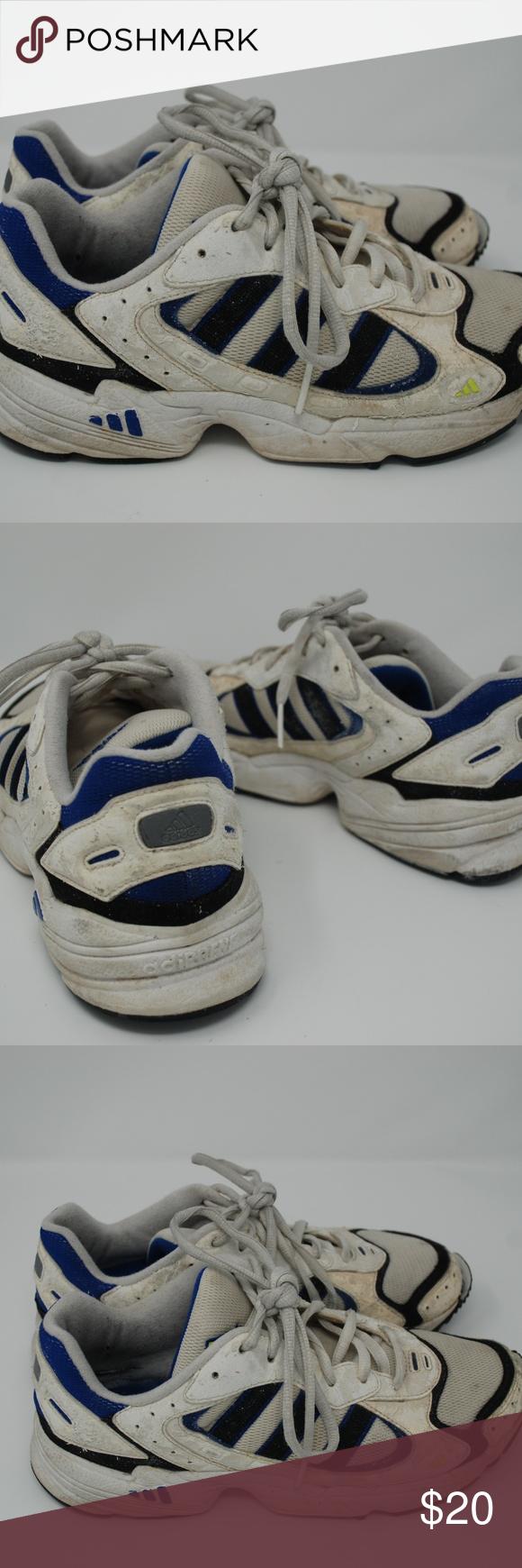 cb443ae52ab48 Vintage 90s Adidas Adiprene Chunky Mesh Sneakers Blue