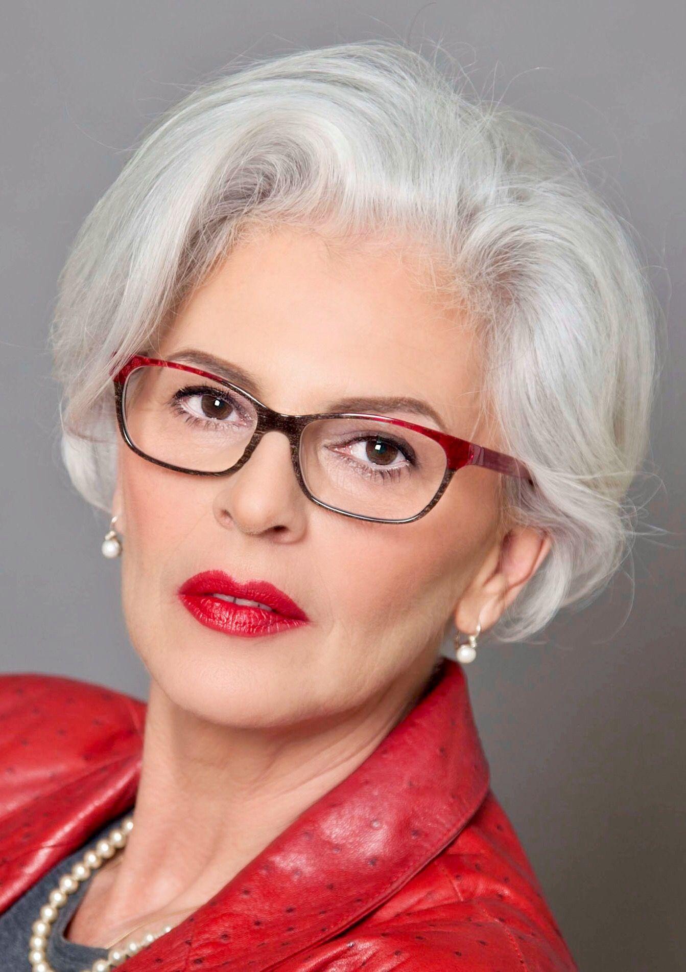 glasses grey hair