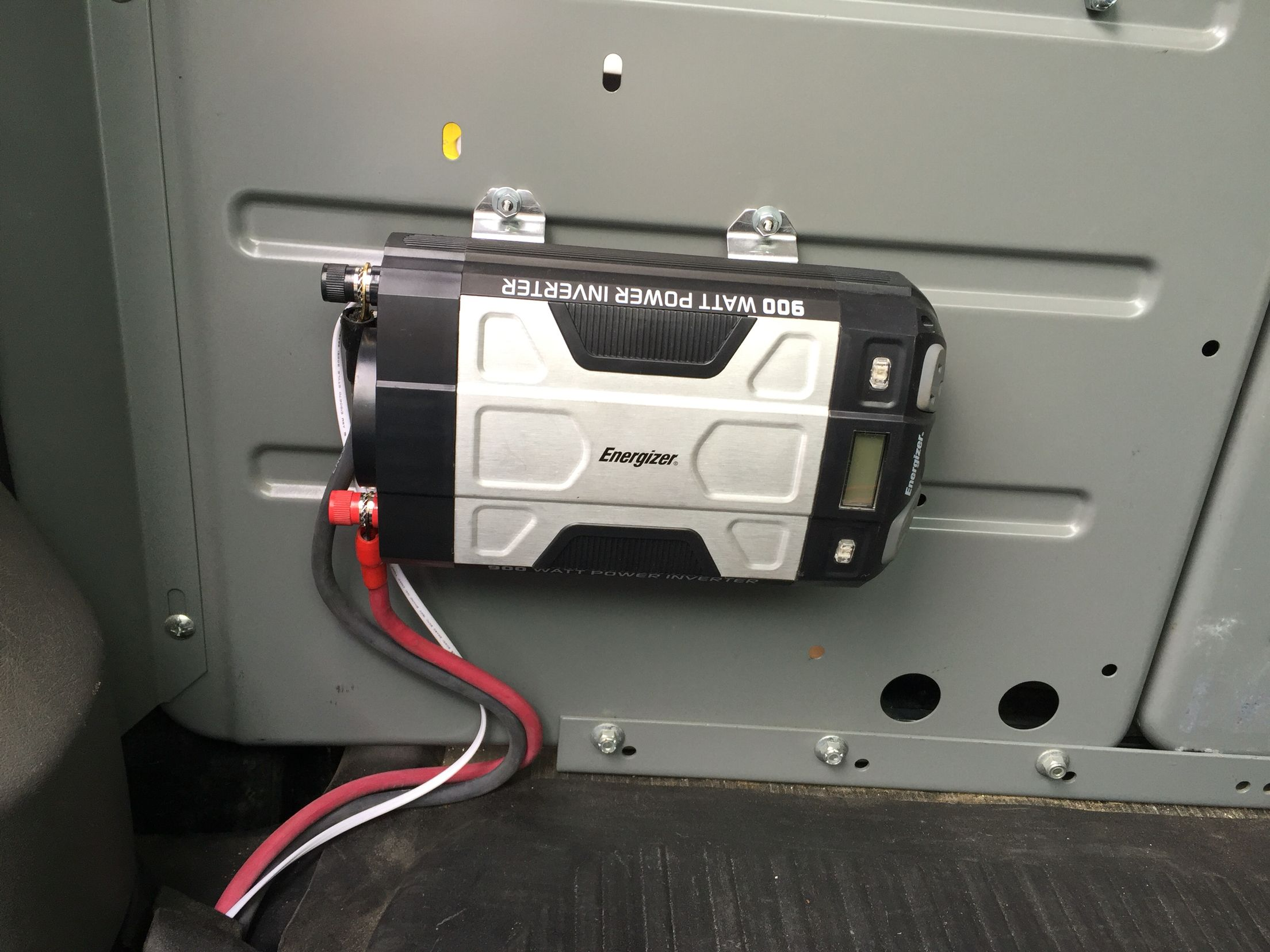 Inverter Install In My Service Van Used Welding Cable For The Power Electrical Wiring Diagrams 2003 Subara Outback Ll Bean Wire Also Installed 120 Volt Outlets With A Remote Button