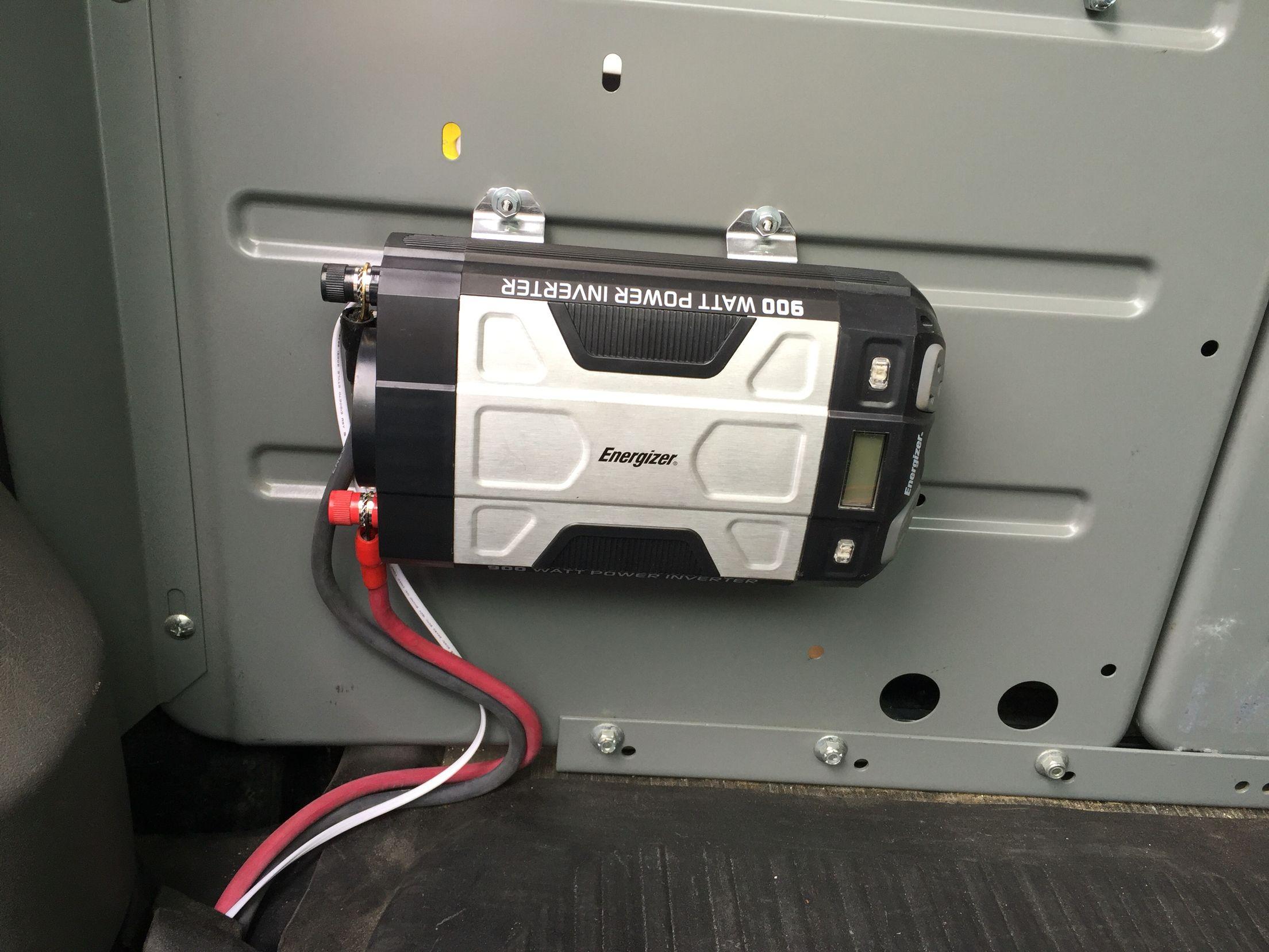 inverter install in my service van used welding cable for the powerinverter install in my service [ 2208 x 1656 Pixel ]