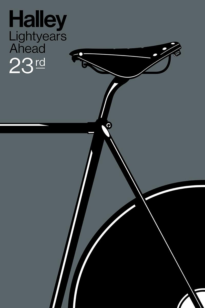 Halley 23 An Art Print By Gianmarco Magnani Ilustrasi Sepeda Desain Logo