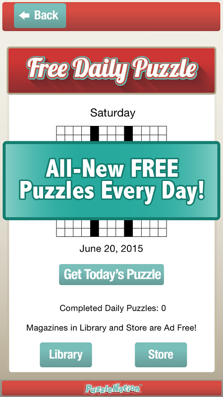 The Penny Dell Crosswords App Offers A Free Daily Puzzle As Well