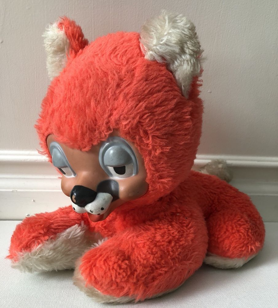 Details about Old Vintage Plush Stuffed Animal Dog Toy