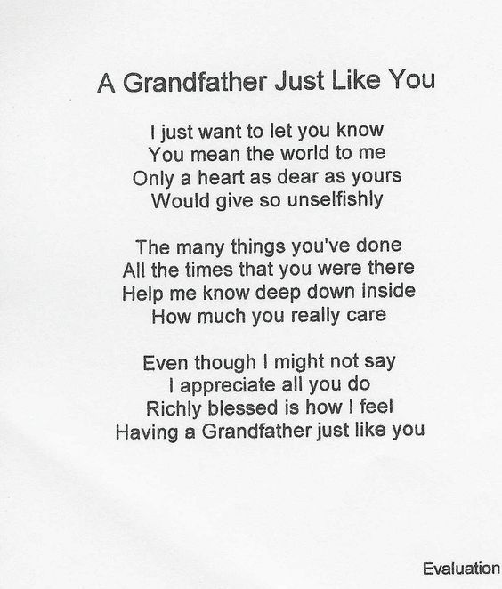 Grandpa Poems From Granddaughter Make Selection On Order Now