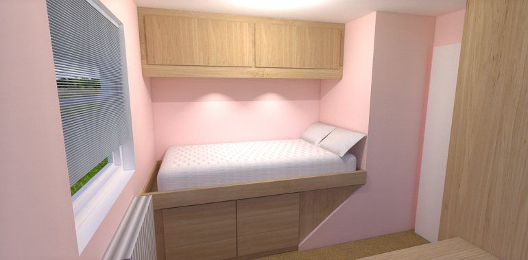 Cabin Bedroom Fitted Furniture: Box Bedroom Storage Over Stairs