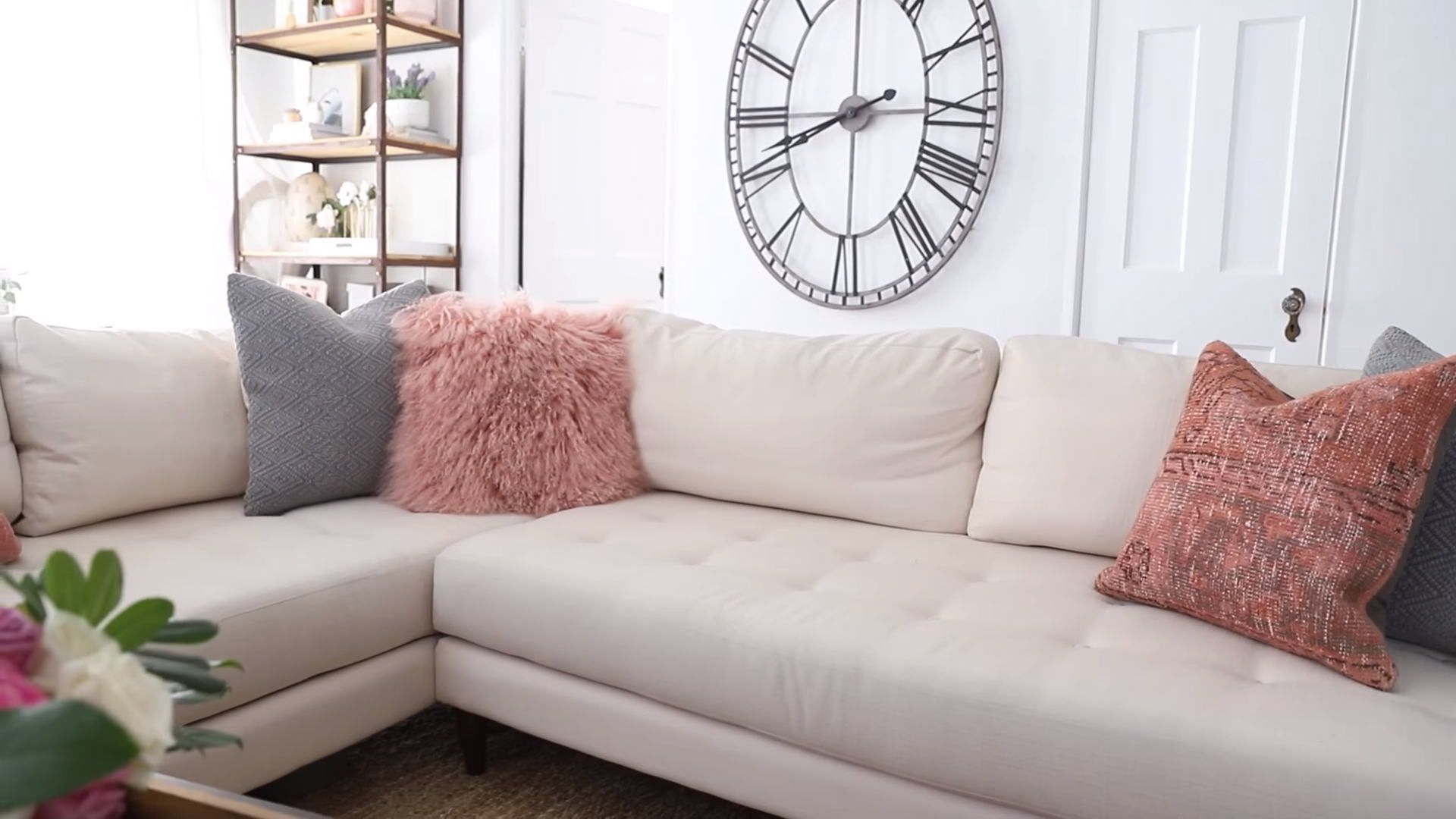Dusty Rose Throw Pillows In Modern