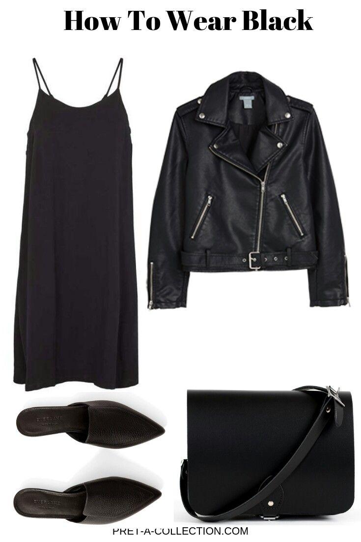 Capsule wardrobe organization #blackdresscasual