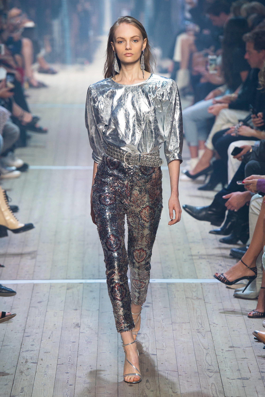 bb20c9b9e46 Isabel Marant Spring Summer 2019 Ready To Wear-ready Woman Vogue Runway  Metallic Trend -